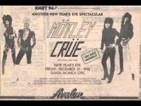 Motley Crue Live Santa Monica Civic Center December 31, 1982