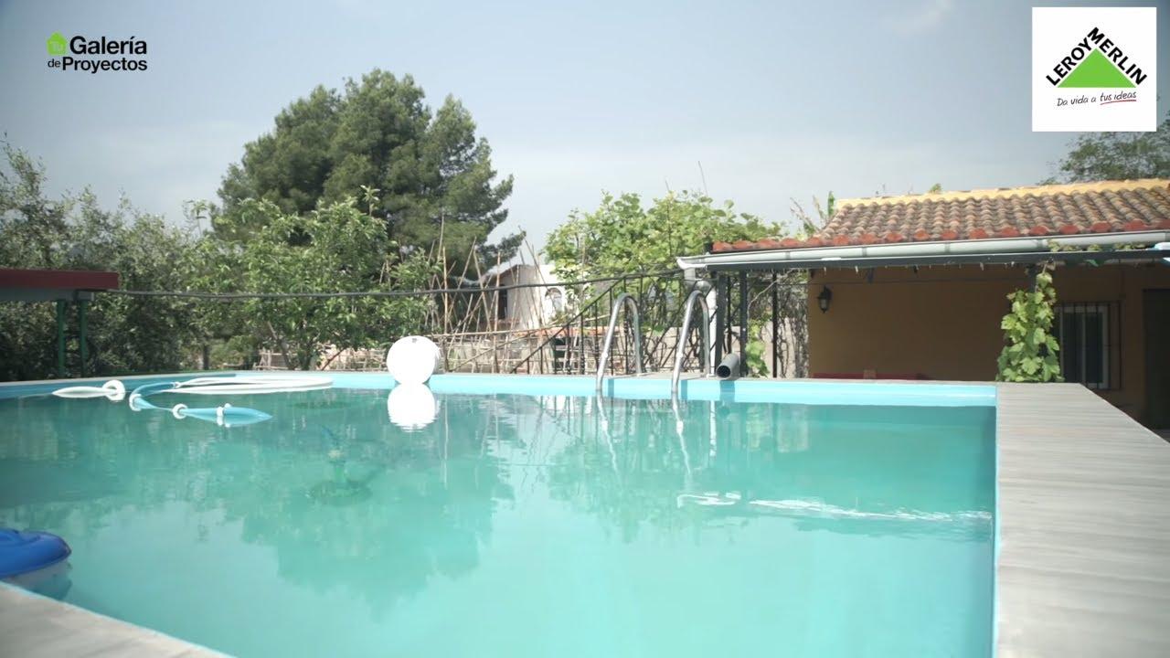 Bricoman a la piscina de obra hecha por roc o leroy for Bricomania piscina