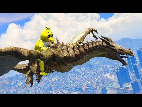 ANIMATRONICS TRAIN A DRAGON! (GTA 5 Mods FNAF Funny Moments)