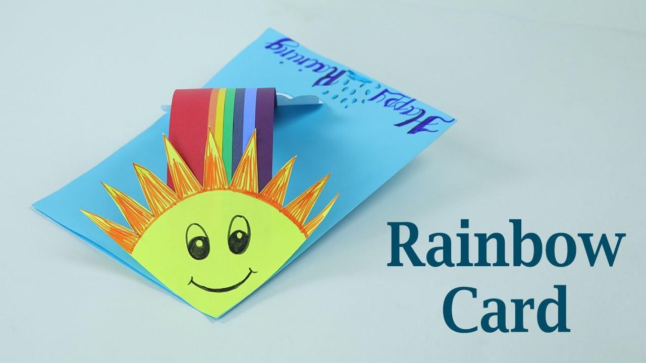 Diy card tutorial making rainbow card for rainy morning greetings diy card tutorial making rainbow card for rainy morning greetings m4hsunfo