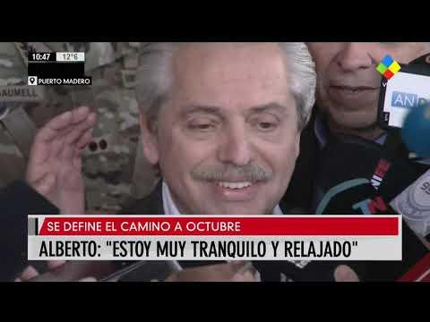 Alberto Fernández: Estoy seguro de que la gente nos va a acompañar