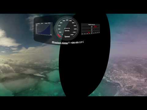 360 degree video of sounding rocket's Maxus 9 launch