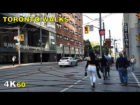 Downtown on Queen Street East (Narrated) - Toronto Walk on Aug 5 [4K]