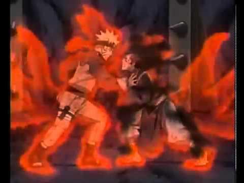 Sora Tail 4kyubi Vs Naruto Kyubi