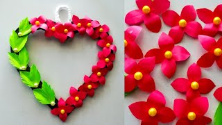 Diy paper flower wall hanging / Simple and beautiful wall hanging / Wall decoration by KovaiCraft #1