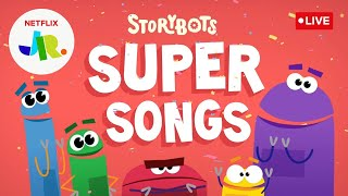 🔴 LIVE! Learn and Sing with StoryBots Super Songs 🤖 | Netflix Jr