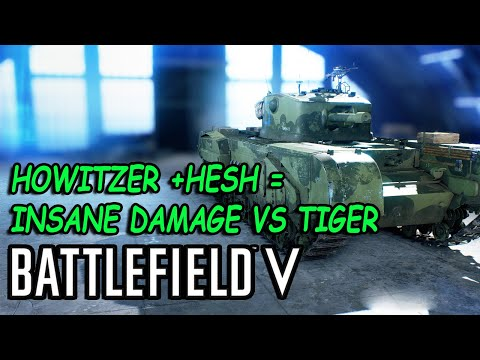 "Battlefield V Churchill Howitzer specialization  ""HESH "" Massive damage thumbnail"