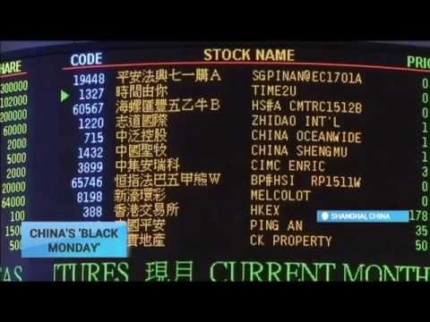 China's Black Monday: Global stock markets crashed on August 24
