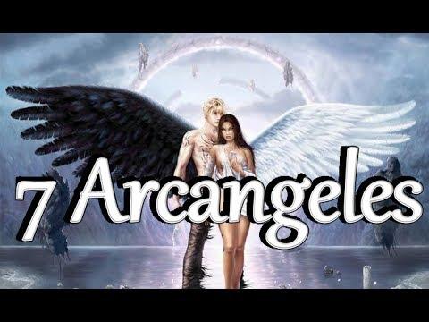 Los 7 Arcangeles Miguel, Gabriel, Rafael, Uriel, Jofiel, Shamuel y Zadkiel