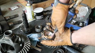 """VLOG #14: Ford 8.8"""" Differential Rebuild - A Good Reaming Always Helps!"""