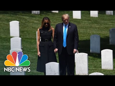 President Donald Trump And Melania Trump Visit Arlington National Cemetery | NBC News