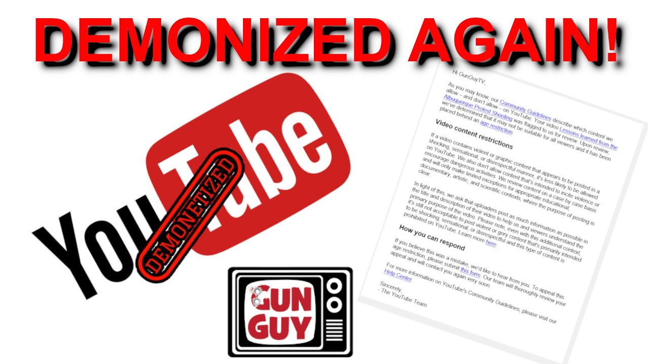 YouTube is demonizing my videos again!  Will this ever stop?