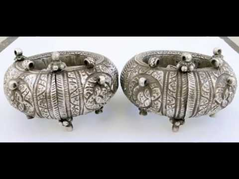 Silver Anklets Designs |Antique Payal Designs Traditional Jewelry