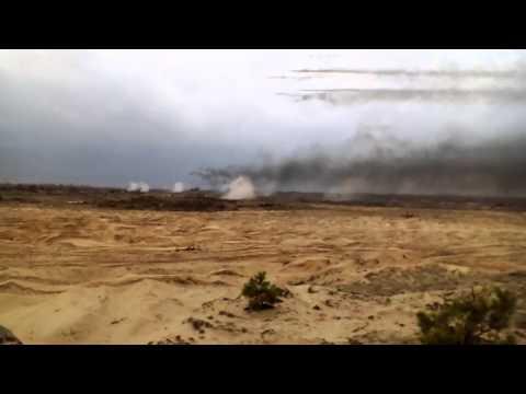 Стрельбы импровизированных украинских РСЗО