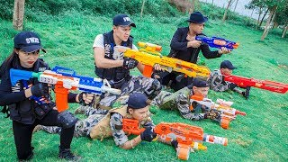 LTT Nerf War : Couple SEAL X Warriors Nerf Guns Fight Criminal Group Dr Lee Man One eyes