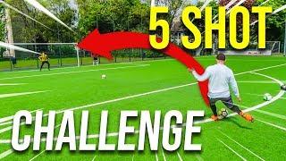 5 SHOT FUßBALL CHALLENGE !!