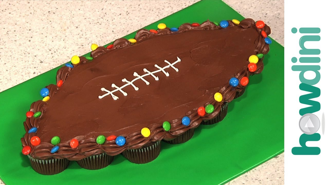 Birthday Cake Ideas How To Make Pull Apart Football Cupcakes Youtube