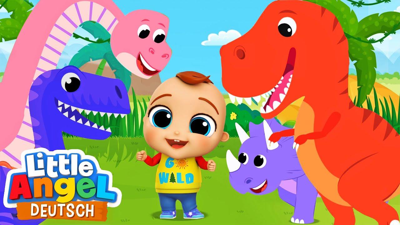 Das Dino-Lied | Zeichentrick | Little Angel Deutsch - Kinderlieder