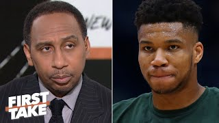 First Take debates whether Giannis is leading the MVP race | First Take