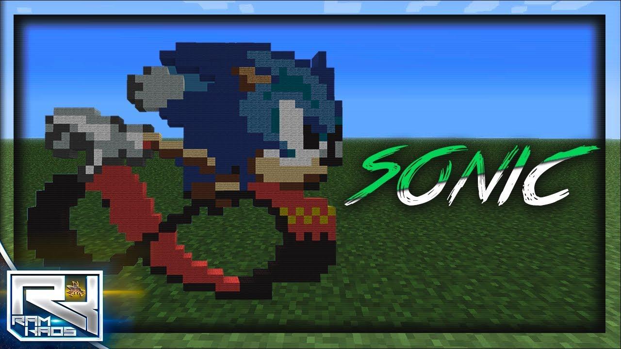 Minecraft Pocket Edition   Pixel Art Sonic The Hedgehog   Sonic ...