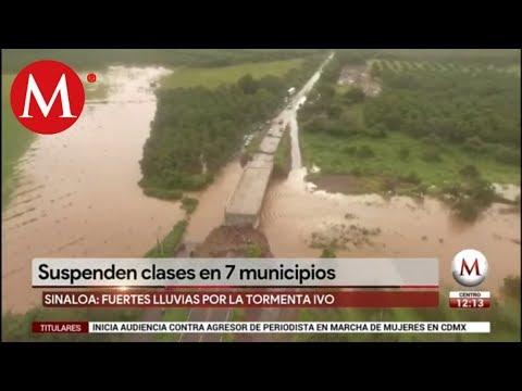 Suspenden clases en 7 municipios de Sinaloa por tormenta tropical 'Ivo'