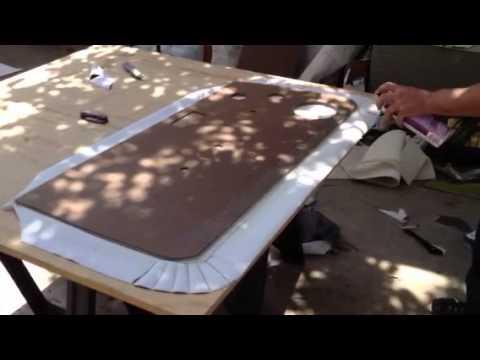 How to cover new door panel 2 & How to cover new door panel 2 - YouTube