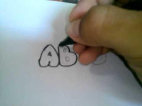 Como hacer letras graffiti (Facil)