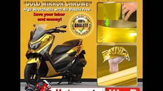 MOTOGENIC WRAP - High Stretchable Wrap, Mirror Chrome Wrap, Car Vinyl Wrap, Air Release Bubble Free
