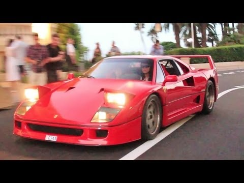 Girl Driving A Ferrari F40 Youtube