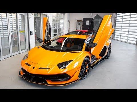 Delivery of a 2020 Lamborghini Aventador SVJ in Arancio Fux!!!