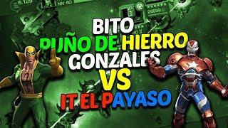 Bito Puño de Hierro Gonzales vs It El Payaso | Marvel Contest Of Champions