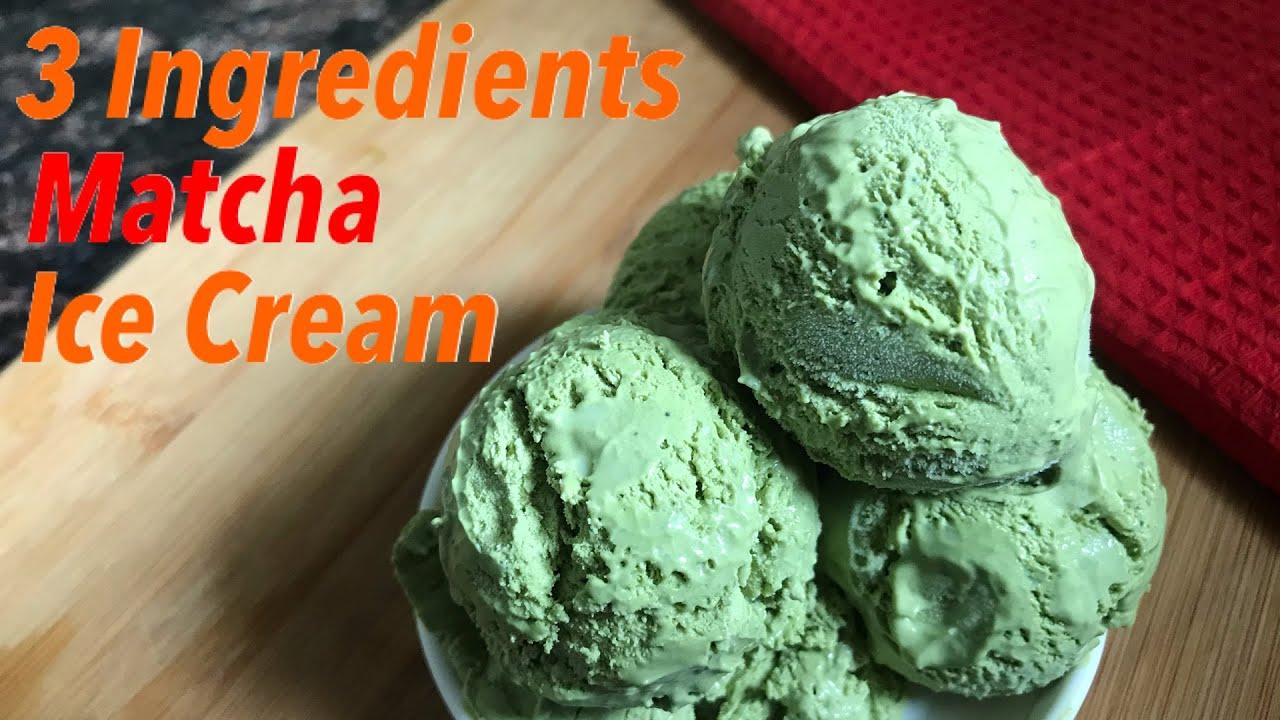 3 Ingredients Matcha Ice Cream   ग्रीन टी (माचा) आइस क्रीम रेसिपी   Homemade Matcha Ice Cream   Keto