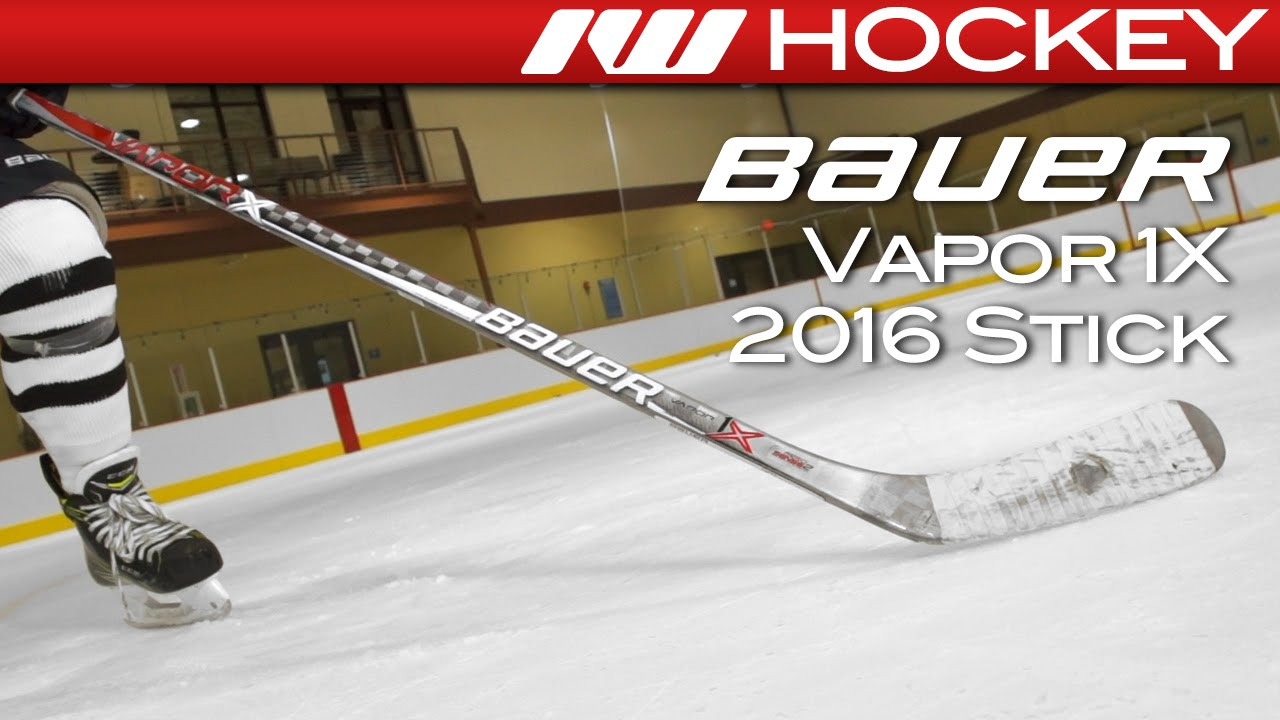 abc372ca774 2016 Bauer Vapor 1X Stick On-Ice Review - YouTube