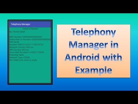 32 44 MB] Download Lagu Telephony Manager in Android with Exle part