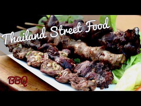 Thai Street Food BBQ – Chicken Liver Heart Giblet Recipe – Thai Chicken BBQ Recipe 🇹🇭