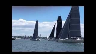 Gunboat Catamarans start at New York Yacht Club Annual Regatta in Newport, RI.