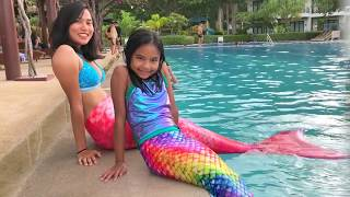 Mermaid Swim with Our Cousin | Toys Academy