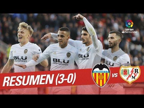 Resumen de Valencia CF vs Rayo Vallecano (3-0)