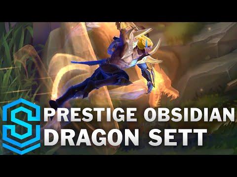 Prestige Obsidian Dragon Sett Skin Spotlight - League of Legends