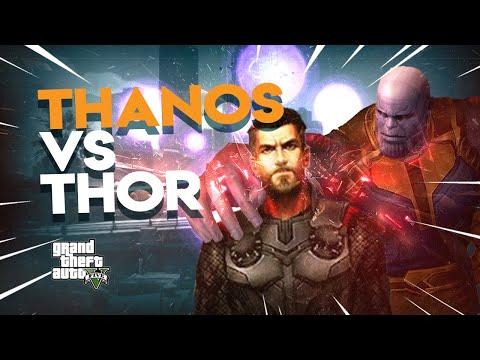 Thanos Infinity Gauntlet VS THOR | GTA 5 Fun #77 - Thanos Mod