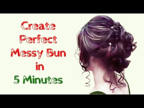 how to make a perfect messy bun in your hair