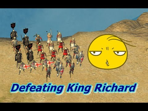 Defeating Richard The Lionheart Stronghold Crusader 2