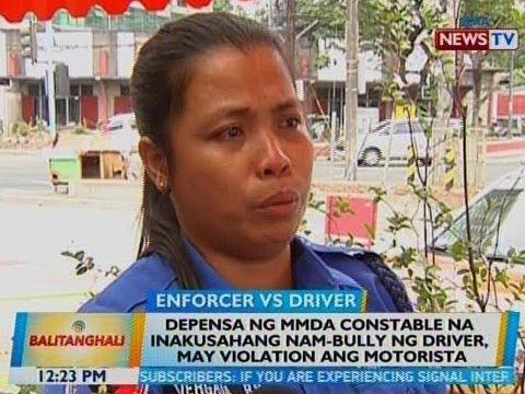 BT: Depensa ng MMDA constable na inakusahang nam-bully ng driver, may violation ang motorista