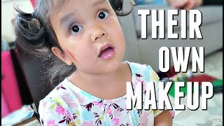 KIDS DO THEIR OWN MAKEUP! - June 18, 2017 -  ItsJudysLife Vlogs