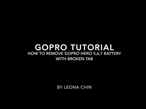 Easiest way to safely remove GoPro battery stuck from the Hero 5 6 7 camera with a broken pull tab