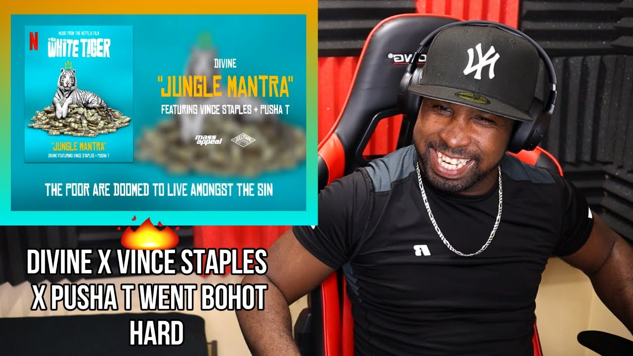DIVINE - JUNGLE MANTRA FT. VINCE STAPLES & PUSHA T | THE WHITE TIGER (FIRST LISTEN) [REACTION] 🐅🔥