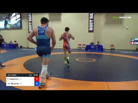 2018 Marine Corps US Open/UWW Junior Freestyle 97 Con 8 #1 - Tanner Zagarino (PWC) Vs. Hunter DeJo