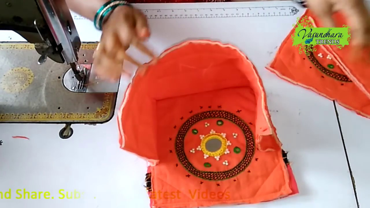 How To Make Fabric Purse Clutch Bag Part 2 With Embroidery Work At Home