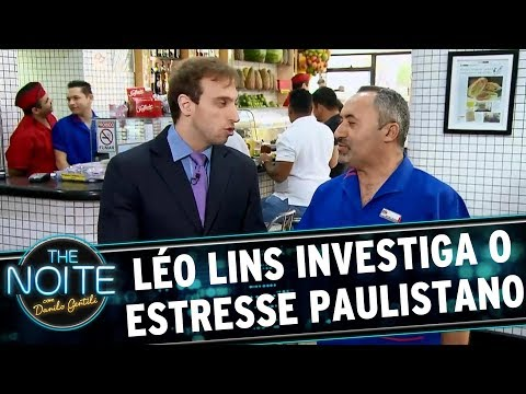 Léo Lins investiga estresse paulistano | The Noite (11/07/17)
