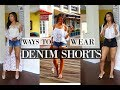 HOW TO STYLE JEAN SHORTS | 4 WAYS to DENIM SHORTS - Outfit Ideas & Lookbook!